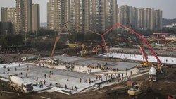 Ảnh: Đại công trường bệnh viện Trung Quốc xây trong 48 giờ để điều trị virus corona