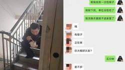 Virus Corona: Bức ảnh sỹ quan cảnh sát TQ lặng lẽ ngồi cầu thang ăn một mình gây xúc động