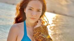 Đan Lê hiếm hoi diện bikini khoe body nóng bỏng, lộ diện người bí ẩn chụp ảnh