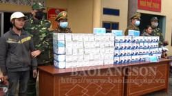 Lạng Sơn: Bắt vụ vận chuyển lậu 5.000 khẩu trang bán sang Trung Quốc