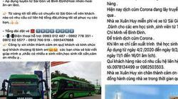Tâm dịch virus Corona: Nhiều nhà xe ở Bình Định làm điều bất ngờ