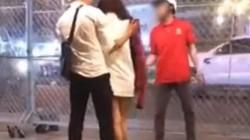 Xôn xao clip cô gái cởi áo, tát thẳng người yêu vì bị bắt gặp đi chơi với trai lạ