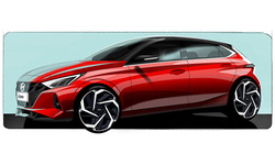 Hyundai hé lộ hình ảnh phác thảo của i20 thế hệ mới