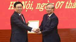 Ảnh, Clip: Lễ công bố tân Bí thư Thành ủy Hà Nội Vương Đình Huệ