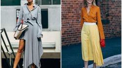 4 item mix cùng váy midi chất lừ cho ngày lạnh