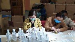 Cơ sở sản xuất hàng ngàn chai nước rửa tay chống virus corona giả
