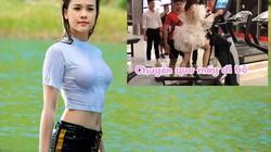Mỹ nhân Việt có tài sản 50 tỷ mặc váy công chúa tập gym gây tranh cãi