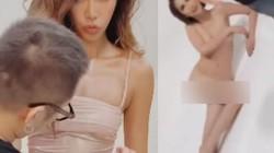Lộ ảnh hậu trường chụp hình ướt át, nóng bỏng của mỹ nhân Việt gây tranh cãi dữ dội