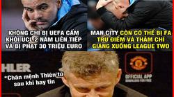 MU mừng thầm khi Man City bị cấm tham dự cúp châu Âu