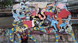 """Hô """"biến"""" con đường rác ở Hà Nội thành các tác phẩm nghệ thuật"""