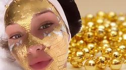 Bella Hadid đắp mặt nạ vàng thật để có diện mạo hoàn hảo nhất thế giới