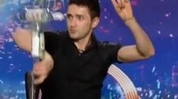Ngả mũ thán phục xem thí sinh Got Talent 'làm xiếc' pha rượu