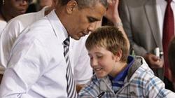 Tổng thống Obama tự tay viết giấy... xin nghỉ học
