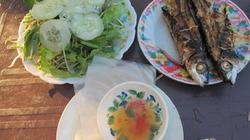 Vừa ăn vừa hít hà cá chuồn nướng bãi Rạng