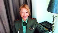 Nhan sắc mặn mà của nữ tướng xinh đẹp nước Nga