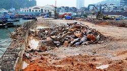 Tuyến kè ven vịnh Hạ Long: Chưa thi công xong đã rạn nứt