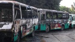 Nghi án đốt hàng loạt xe buýt ở Đồng Tháp
