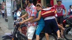 TP.HCM: Xử lý 5 trường hợp trẻ em không đội mũ bảo hiểm