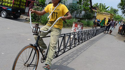Choáng với xe đạp dài... 13m