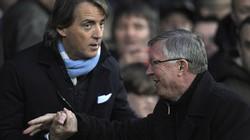 """Mancini """"ngậm bồ hòn"""" chúc mừng M.U vô địch"""