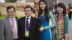 Hoa hậu Đặng Thu Thảo nền nã áo dài trên đất Ý
