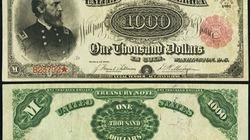 Tờ 1.000 USD có giá 2,5 triệu USD