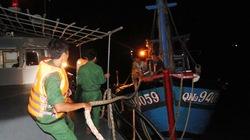 Cứu thành công tàu cá cùng 7 ngư dân gặp nạn trên biển