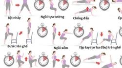 7 phút tập thể dục hiệu quả