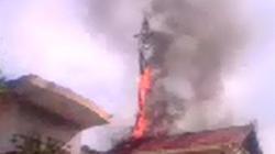 Cháy cột thu phát sóng của Viettel tại TP. Vinh