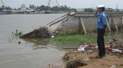 Sạt lở nghiêm trọng bờ kè sông Cần Thơ