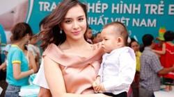 Á hậu Thiên Lý lần đầu khoe con trai 15 tháng tuổi