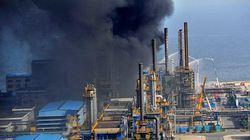 Trung Quốc: Nhà máy lọc dầu phát nổ, cháy ngùn ngụt