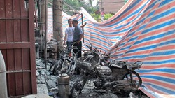 Phong tỏa nghiêm ngặt hiện trường cây xăng cháy