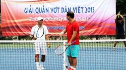 Tưng bừng khai mạc giải quần vợt Dân Việt 2013