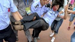 Xem Beckham, fan Trung Quốc dẫm đạp nhau, nhập viện