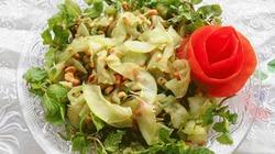 Dưa gang trộn đậu phộng: món ăn thanh mát ngày hè