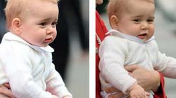 Hoàng tử bé nước Anh lần đầu xuất ngoại, xinh như thiên thần
