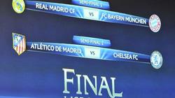 Bốc thăm CL: Real đụng Bayern, Chelsea gặp Atletico
