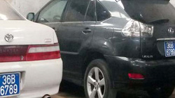 2 ôtô Công an tỉnh Thanh Hóa dùng chung biển 'khủng'
