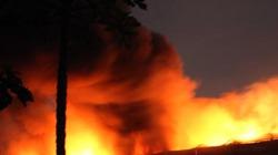 TP.HCM: Cháy lớn Khu xử lý chất thải rắn Gò Cát