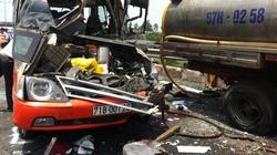 Xe khách tông xe bồn trên cao tốc Trung Lương, 4 người chết