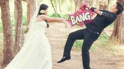 Ngắm bộ ảnh siêu hài hước của cặp đôi tự chế ảnh cưới