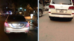 Hà Nội: Hai xế hộp cùng đeo một biển số 'khủng'