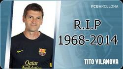 Chùm ảnh toàn đội Barcelona đi viếng cố HLV Vilanova