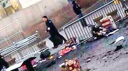 Hiện trường vụ nổ ở nhà ga Tân Cương