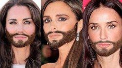 Giật mình khi loạt sao nữ bỗng dưng... lởm chởm râu