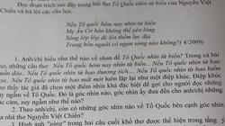 Giáo viên tâm sự về việc đưa vụ giàn khoan Hải Dương 981 vào đề văn