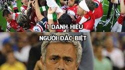 Ảnh chế: Mourinho ê chề khi hay tin Arsenal vô địch FA Cup