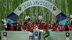 Chùm ảnh cầu thủ Arsenal vui sướng tột độ với chức vô địch FA Cup