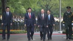 Những hình ảnh đầu tiên của Tổng thống Putin tại Trung Quốc